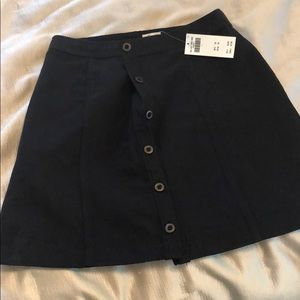 Hollister new with tags skirt Black suede